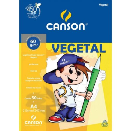 Bloco Canson Vegetal 60g/m² A4 - 50 Folhas