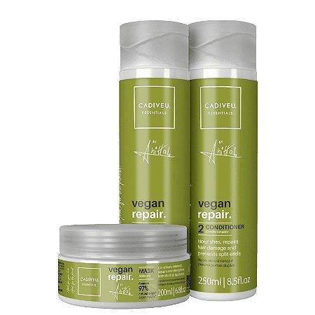 Kit Cadiveu Essentials Vegan Repair by Anitta - Shampoo, Condicionador e Máscara