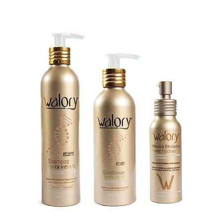 Kit Walory Power Hydrate - Shampoo + Condicionador + Máscara Blindadora