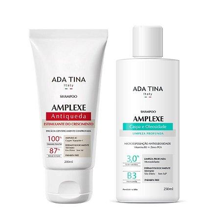 Kit Ada Tina Amplexe - Tratamento Antiqueda Capilar, Caspa e Oleosidade