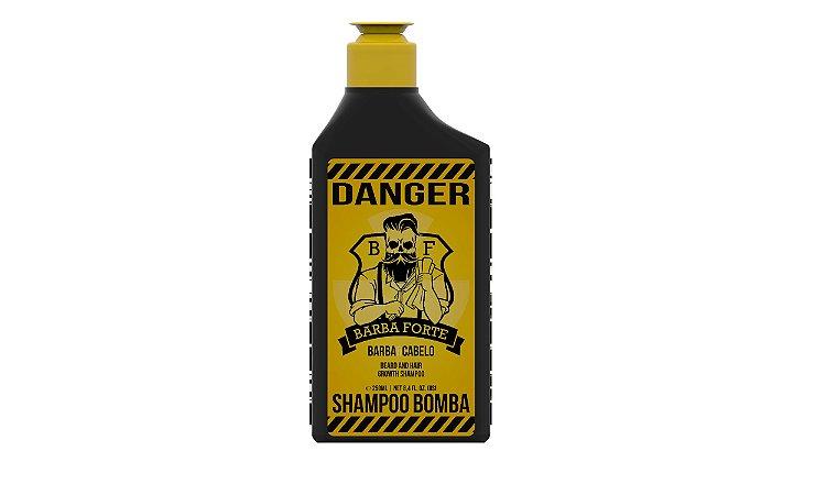 Barba Forte Danger - Shampoo Bomba Barba e Cabelo 250ml