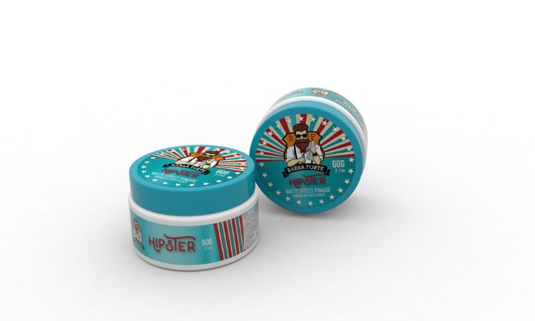 Barba Forte Hipster Matte Effect - Pomada Efeito Fosco 60g