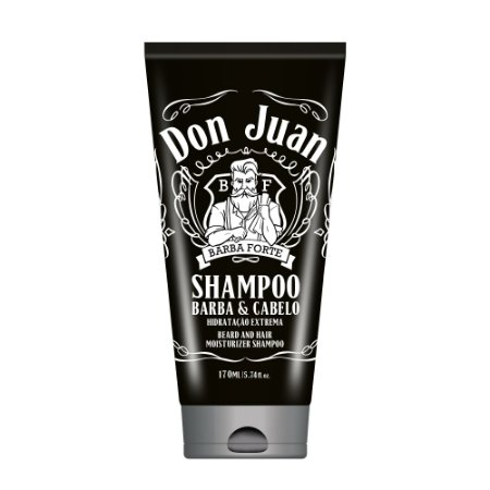 Barba Forte Don Juan - Shampoo Barba e Cabelo 170ml