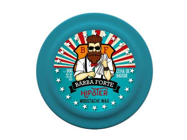 Barba Forte Hipster Moustache Wax - Cera de Bigode 30g