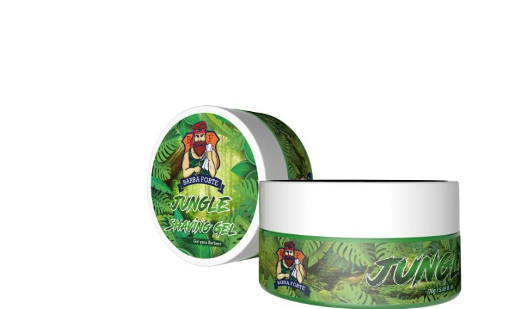 Barba Forte Jungle Shaving Gel - Gel de Barbear 170g