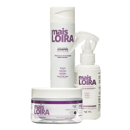 Kit About You Mais Loira - Shampoo, Máscara e Leave-in