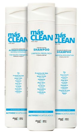Kit About You Mais Clean - Shampoo Hidratante, Shampoo Anticaspa e Condicionador