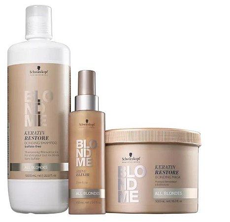 Kit BlondMe Shampoo + Máscara e Sérum Schwarzkopf Professional