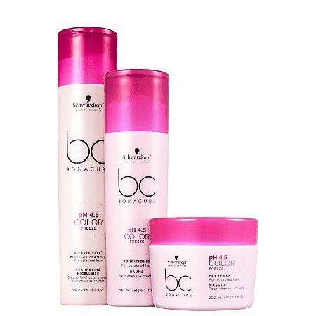 Kit Schwarzkopf BC pH 4.5 Color Freeze Sulfate-Free - Shampoo + Condicionador + Máscara