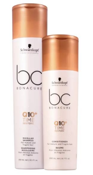 Kit BC Bonacure Q10+ Time Restore Shampoo 250ml e Condicionador 200ml Schwarzkopf
