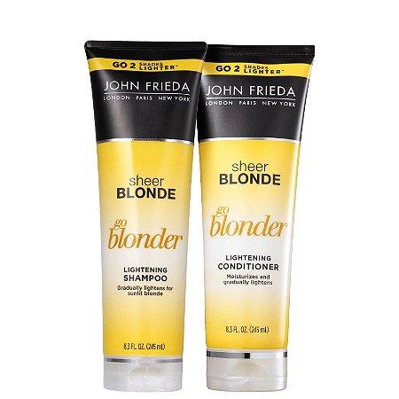 Kit John Frieda Sheer Blonde Go Blonder Lightening shampoo e Condicionador