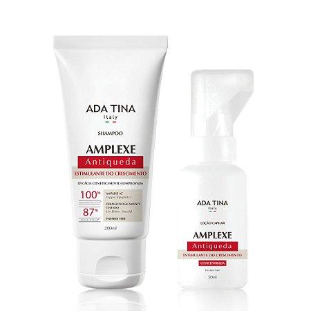 Kit Ada Tina Amplexe Tratamento Antiqueda e Fortalecimento - Shampoo 200ml e Loção 50ml