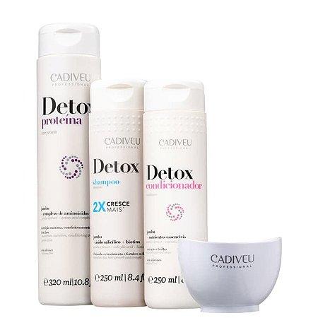 Kit Cadiveu Detox Home Care - Pré-Shampoo + Shampoo + Condicionador