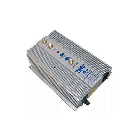 Amplificador Potência Uhf Vhf Catv 50db Pqap-7500