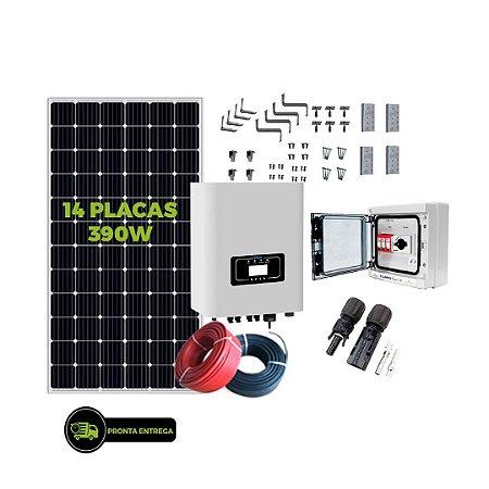 Kit Fotovoltaico 5,46KW - 14PL 390W + 01 INVER 5K