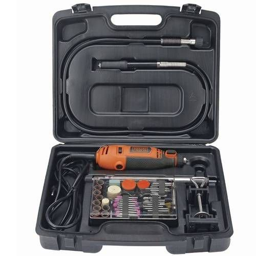 kit Micro retífica c/ 113 pçs RT18KA Black Decker 110V