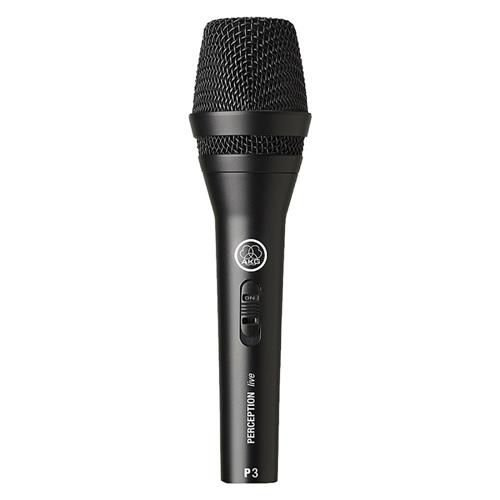 Microfone AKG Dinâmico P3S Perception Vocal Live Instrumental