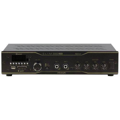 Amplificador Receiver SLIM 3000APP Optical 200W Rms USB SD FM Frahm