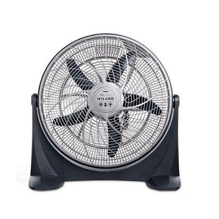 Circulador de Ar 50cm Milano NKS Prata 127v - ML 200