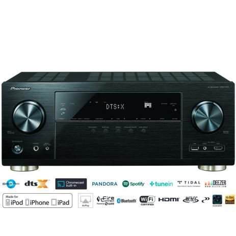 Receiver 7.2ch Pioneer VSX-1131 4K UHD DolbyAtmos DTS:X HDR BT Wifi Zona2 Phono 127 v
