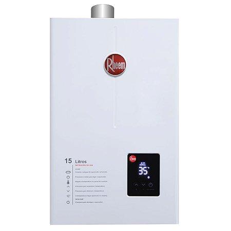 Aquecedor De Água A Gás GLP Rheem 15 L / Min Digital 110-220v