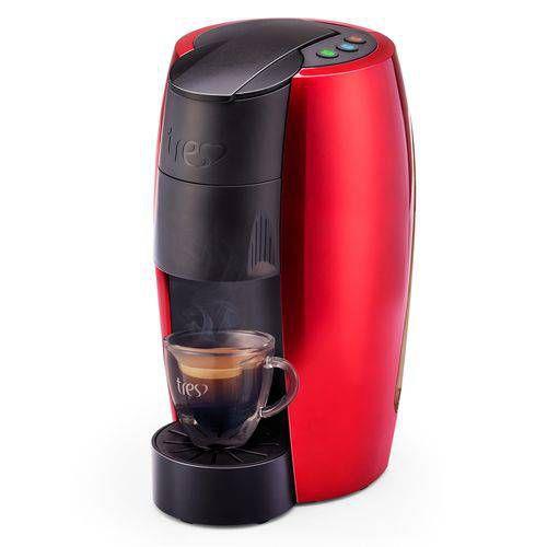 Máquina de Café Espresso Automática TRES LOV Multibebidas127v Vermelha