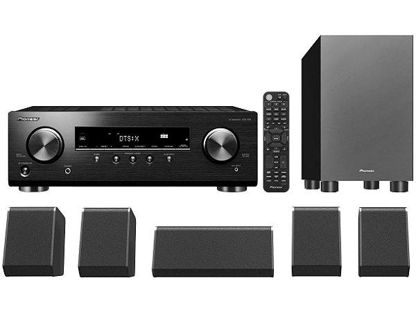 Home Cinema Pioneer HTP076 Bluetooth 80W 6 Canais HDMI 4K 110v