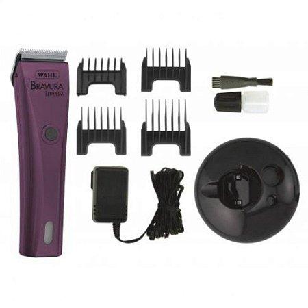 Máquina De Tosa Wahl Bravura Purple Bivolt