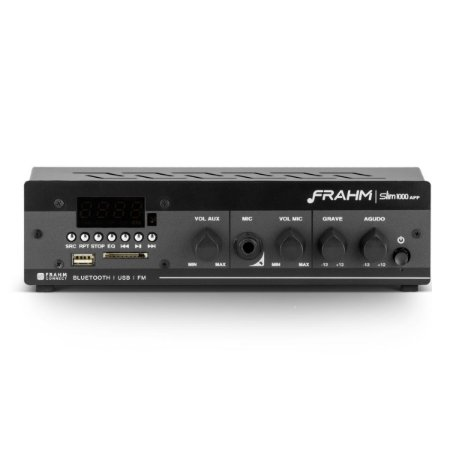 Amplificador c/ Bluetooth USB/SD/FM SLIM 1000APP G2 Frahm Bivolt