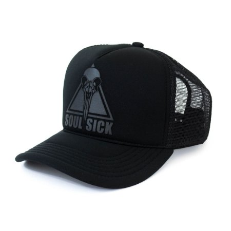 BONÉ SOUL SICK TRUCKER BLACK TO BLACK SNAPBACK