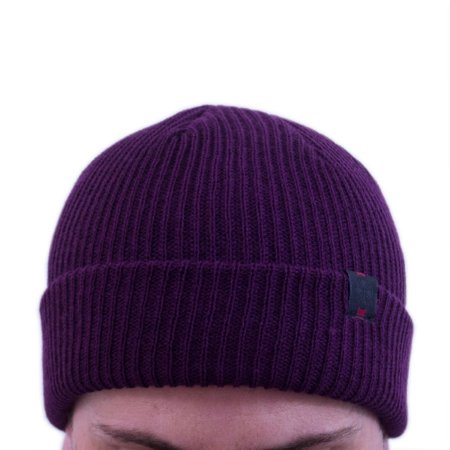 TOUCA INDEPENDENT LABEL FOLD BEANIE EGGPLANT