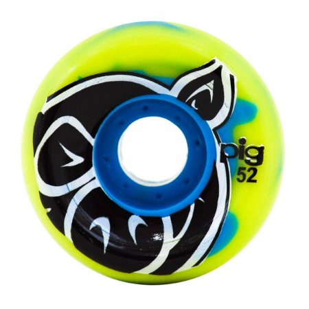 RODA PIG HEAD SWIRL BLUE LIME 52MM