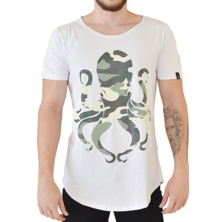 CAMISETA R23BR LONG OCTOPUS MILITARY BRANCA