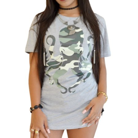 CAMISETA R23BR LONG F. OCTOPUS MILITARY MESCLA