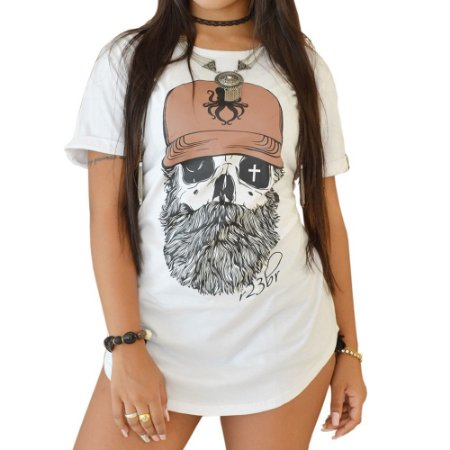CAMISETA R23BR LONG F. OLD SKULL BRANCA