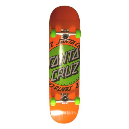SKATE MONTADO KIT PLUART SANTA CRUZ POWERLYTE DOT ORANGE
