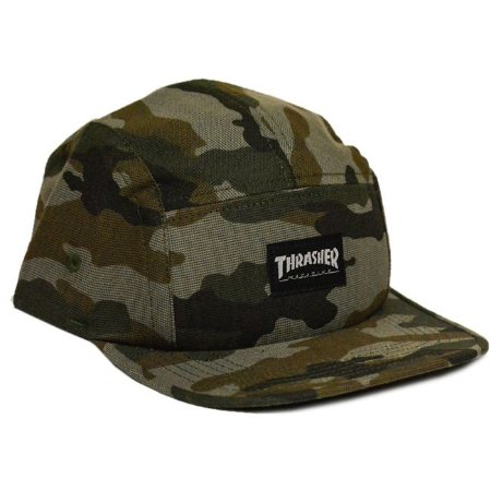 BONÉ THRASHER MAGAZINE FIVE PANEL CAMUFLADO