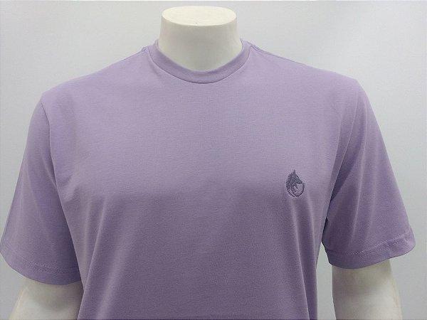 Camiseta Masculina Lilas Lobo Cekock