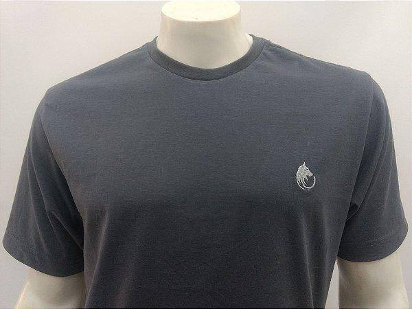 Camiseta Masculina Cinza Chumbo Lobo Cekock