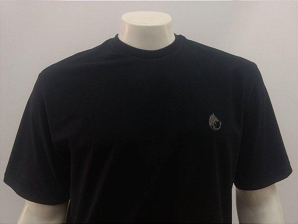 Camiseta Masculina Preta Lobo Cekock