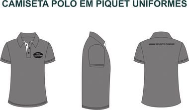 1901f03a62 Uniformes Polo Masculina e Feminina Personalizada - Cekock A Marca ...