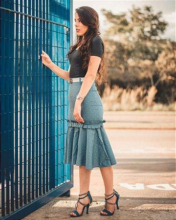 Saiaria Midi Blue Heart
