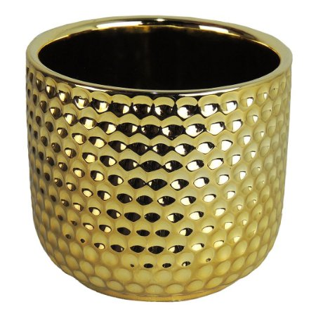 Vaso Cerâmica Dourado - 10cm