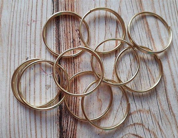 b66a819fc1313 Argola chaveiro dourada sem corrente ( pct 10 ) - AMORART S