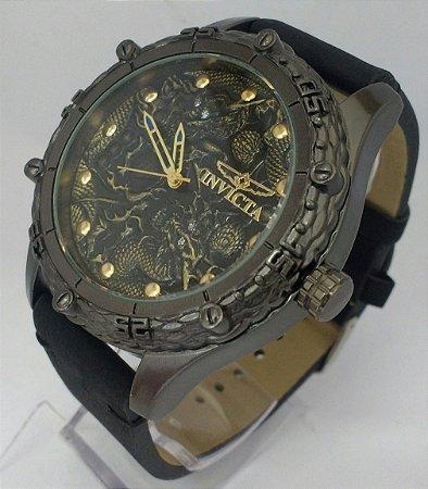 12686db99c5d9 Relógio Invicta couro masculino - Vmax Relojoaria