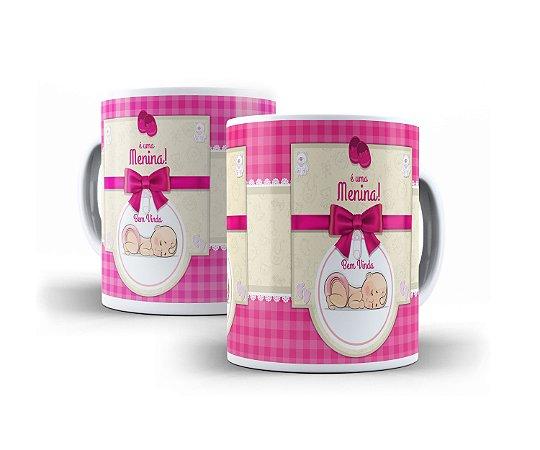 88101c695 Caneca Personalizada Chá de Bebe Revelação Menino e Menina