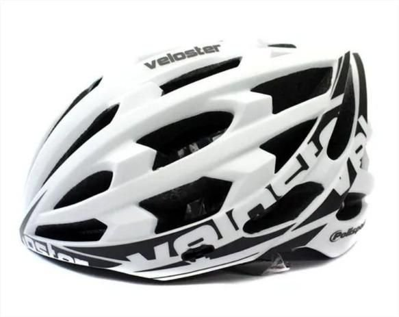 Capacete de Ciclismo POLISPORT Veloster Branco/Preto Tam. M