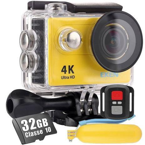 Kit Câmera de Ação EKEN H9R Esportiva Ultra HD 4K