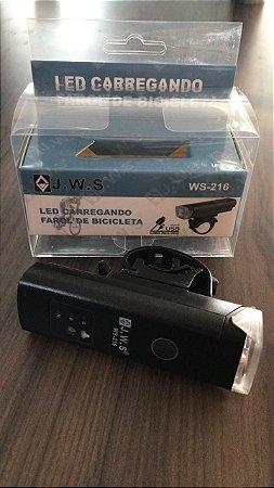 Farol USB J.W.S Mini com Sensor Indicador de Bateria