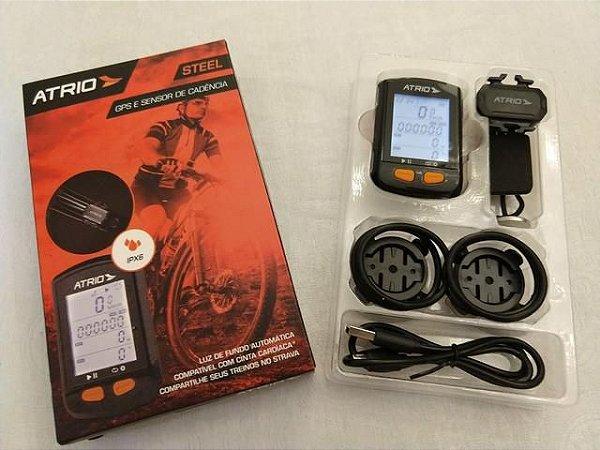 GPS e Sensor de Cadência ATRIO Steel IPX6 Mod. BI132